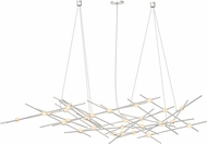 Sonneman 2155.13W Constellation Modern Satin Nickel LED Lighting Chandelier