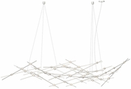 Sonneman 2158.13C Constellation Contemporary Satin Nickel LED Chandelier Lamp