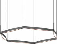Sonneman 22QKRR01120PHA Ola Contemporary Satin Black LED Pendant Light