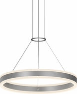 Sonneman 2303.16 Double Corona Contemporary Bright Satin Aluminum LED 24  Hanging Lamp