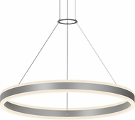 Sonneman 2305.16 Double Corona Contemporary Bright Satin Aluminum LED 32  Pendant Light Fixture