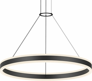 Sonneman 2305.25 Double Corona Modern Satin Black LED 32  Pendant Lighting Fixture