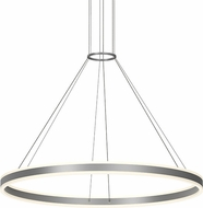 Sonneman 2307.16 Double Corona Contemporary Bright Satin Aluminum LED 48  Hanging Pendant Lighting