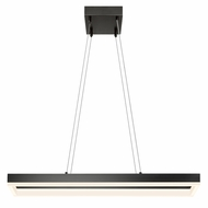 Sonneman 2308.25 Corona Modern Satin Black Finish 2  Tall LED Island Lighting