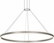Sonneman 2309.16 Double Corona Contemporary Bright Satin Aluminum LED 60  Pendant Hanging Light