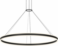 Sonneman 2309.25 Double Corona Modern Satin Black LED 60  Hanging Light Fixture