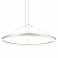 Sonneman 2318.16 Corona Contemporary Bright Satin Aluminum LED Lighting Pendant