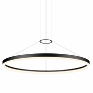 Sonneman 2318.25 Corona Modern Satin Black LED Pendant Lamp