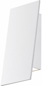 Sonneman 2361.98.WL Angled Plane Contemporary Textured White LED Indoor/Outdoor Lighting Sconce
