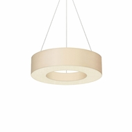 Sonneman 2482.03 Ring Shade Contemporary Satin White LED Hanging Lamp