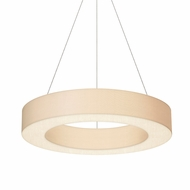Sonneman 2484.03 Ring Shade Modern Satin White LED Hanging Light