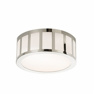 Sonneman 2525.35 Capital Contemporary Polished Nickel Finish 12  Wide LED Flush Mount Lighting