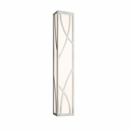 Sonneman 2532.13 Haiku Contemporary Satin Nickel Finish 30  Wide LED Bathroom Sconce