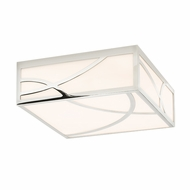 Sonneman 2539.35 Haiku Contemporary Polished Nickel Finish 12  Wide LED Flush Mount Ceiling Light Fixture
