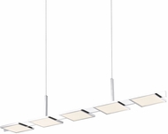 Sonneman 2575.01 Panels Contemporary Polished Chrome LED Kitchen Island Light Fixture