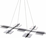 Sonneman 2577.01 Panels Contemporary Polished Chrome LED Island Lighting