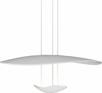 Sonneman 2667.03 Infinity Reflections Modern Satin White LED Pendant Hanging Light