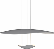 Sonneman 2667.18 Infinity Reflections Contemporary Dove Grey LED Hanging Light Fixture