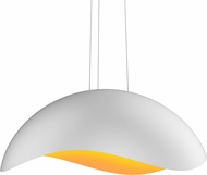 Sonneman 2674.03A Waveforms Contemporary Satin White LED Pendant Lamp