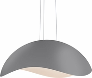 Sonneman 2674.18W Waveforms Contemporary Dove Grey LED Hanging Light
