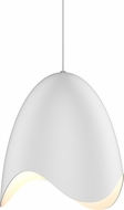 Sonneman 2675.03W Waveforms Contemporary Satin White LED Hanging Pendant Light