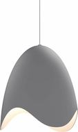 Sonneman 2675.18W Waveforms Modern Dove Grey LED Pendant Hanging Light