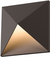 Sonneman 2714.72.WL Prism Contemporary Textured Bronze LED Interior/Exterior Wall Light Sconce