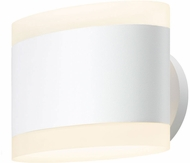 Sonneman 2718.98 Ellipses Contemporary Textured White LED Wall Light Sconce