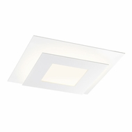 Sonneman 2727.98 Offset Contemporary Textured White LED Ceiling Light Fixture