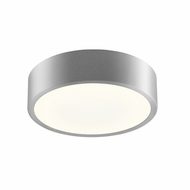 Sonneman 2745.16 Pi Contemporary Bright Satin Aluminum LED 8  Flush Mount Lighting