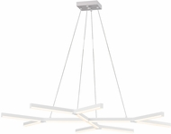 Sonneman 2775.03 Quad.Y Contemporary Satin White LED Island Light Fixture