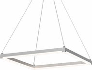 Sonneman 2786.16 Stix Square Modern Bright Satin Aluminum LED Hanging Lamp