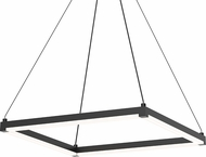 Sonneman 2786.25 Stix Square Contemporary Satin Black LED Hanging Light