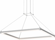 Sonneman 2787.16 Stix Square Modern Bright Satin Aluminum LED Pendant Light Fixture