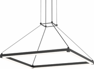 Sonneman 2787.25 Stix Square Contemporary Satin Black LED Pendant Lighting Fixture