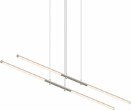 Sonneman 2801.13 Tik-Tak Modern Satin Nickel LED Kitchen Island Light Fixture