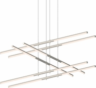 Sonneman 2803.13 Tik-Tak Modern Satin Nickel LED Chandelier Lamp