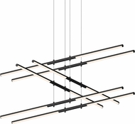 Sonneman 2803.25 Tik-Tak Contemporary Satin Black LED Chandelier Light