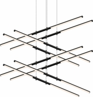 Sonneman 2804.25 Tik-Tak Contemporary Satin Black LED Chandelier Lighting