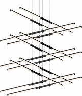 Sonneman 2806.25 Tik-Tak Contemporary Satin Black LED Lighting Chandelier