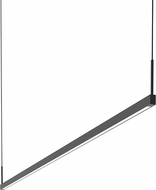 Sonneman 2818.25-6 Thin-Line Modern Satin Black LED Two-Sided 72  Island Light Fixture