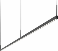 Sonneman 2818.25-8 Thin-Line Contemporary Satin Black LED 96  Kitchen Island Light Fixture