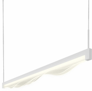 Sonneman 2820.03 Wave Bar Modern Satin White LED 36  Island Lighting