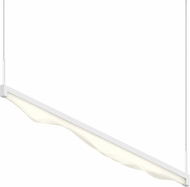 Sonneman 2822.03 Wave Bar Contemporary Satin White LED 48  Kitchen Island Lighting
