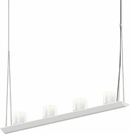 Sonneman 2857.03-LW Votives Modern Satin White LED Island Light Fixture
