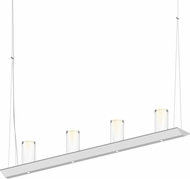 Sonneman 2857.03-SC Votives Contemporary Satin White LED Kitchen Island Light Fixture
