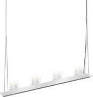 Sonneman 2857.16-LW Votives Contemporary Bright Satin Aluminum LED Island Light Fixture