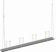 Sonneman 2857.16-SC Votives Modern Bright Satin Aluminum LED Kitchen Island Light Fixture