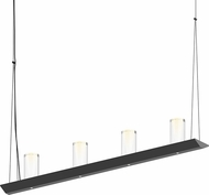Sonneman 2857.25-SC Votives Contemporary Satin Black LED Kitchen Island Light Fixture
