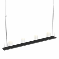Sonneman 2857.25-SW Votives Modern Satin Black LED Island Lighting